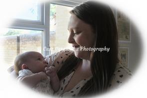 Mum and Daughter - Baby at 5 Weeks Old