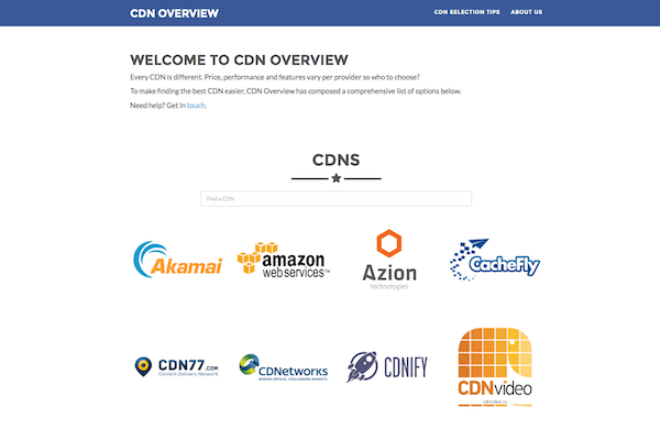 Overview and comparison of CDNs, their features and prices