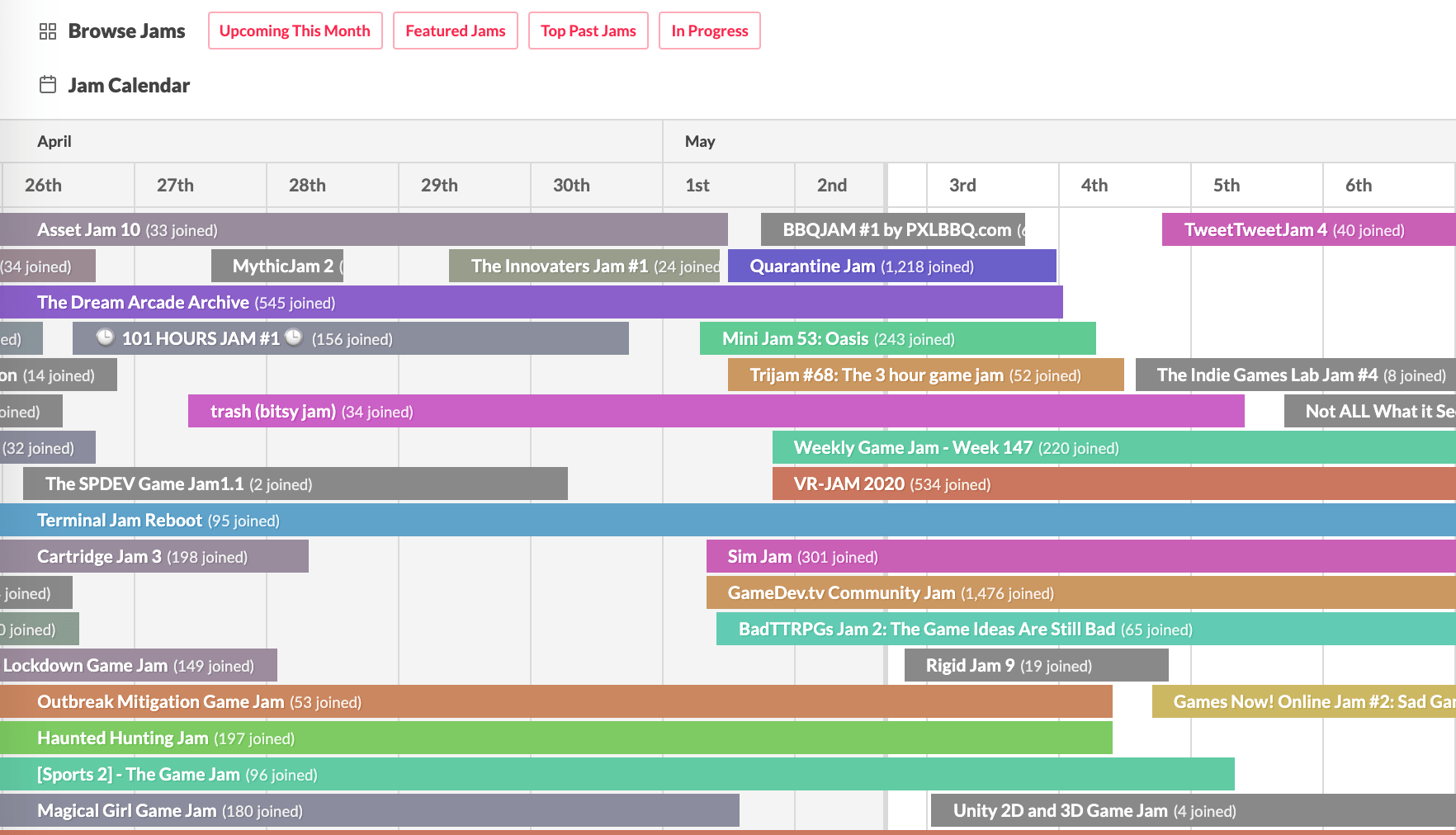 Related Content: Game Jams Calendar