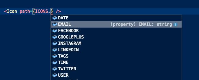 suggerimenti constanti icone nell'editor
