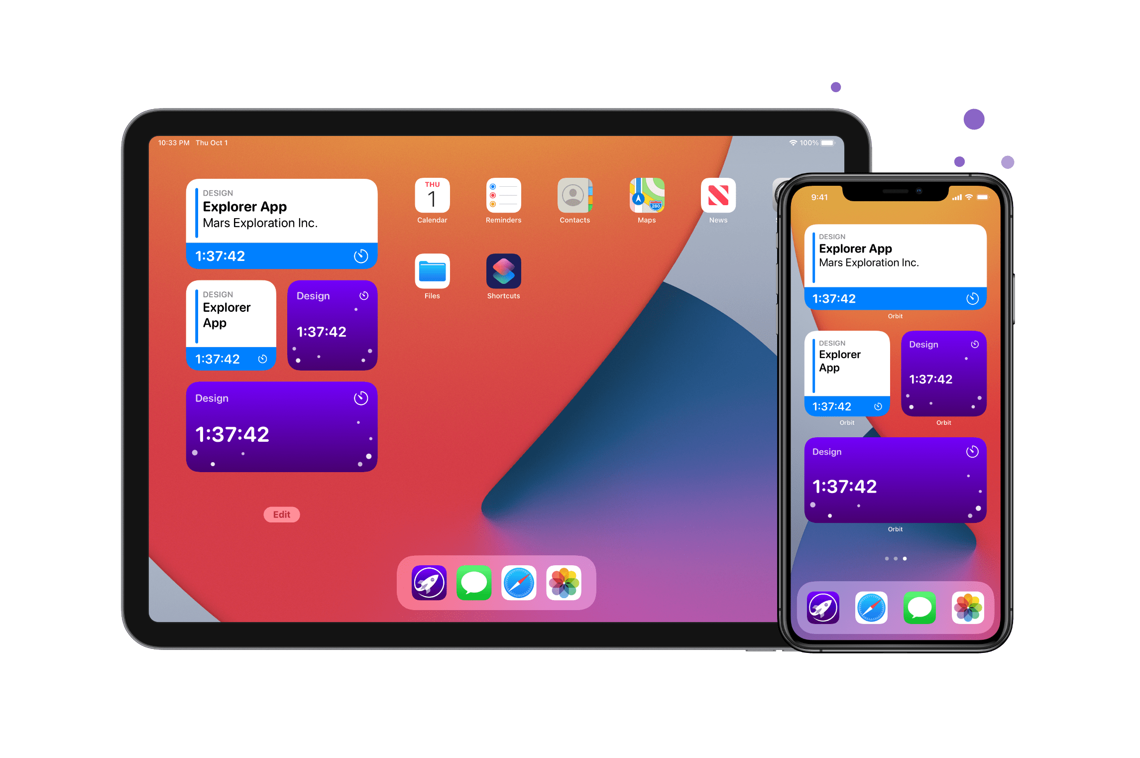 iOS Home Screen with Widget