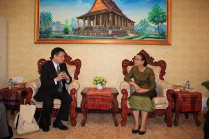 meet with laos education and sport minister