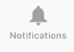 The Notifications icon on the Tab bar.