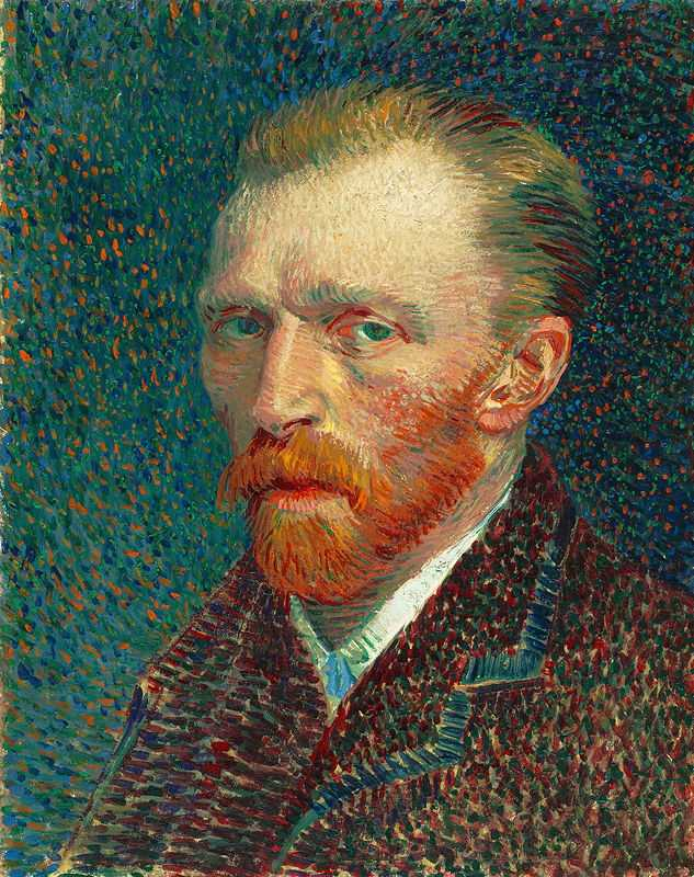 Self-Portrait by Vincent Van Gogh, 1887, Art Institute of Chicago