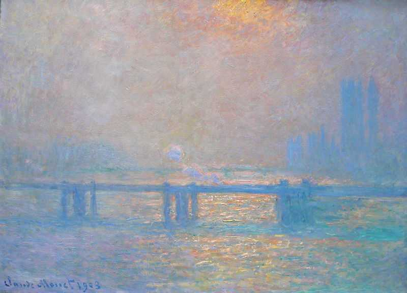 From the Charing Cross Bridge series by Claude Monet, 1903, Museum of Fine Arts of Lyon