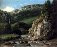 'Stream in the Jura Mountains (The Torrent)' by Gustave Courbet, 1872–73, Honolulu Museum of Art