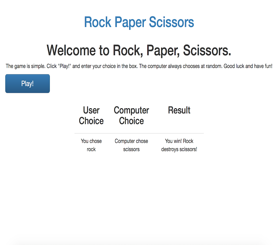 Rock Paper Scissors Thumbnail