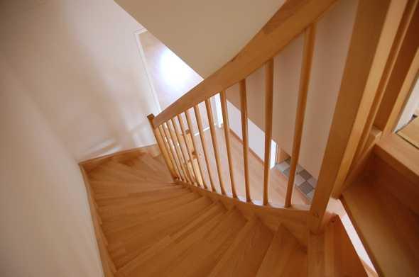 boven aan de trap