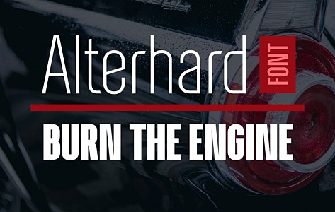 Alterhard Condensed Strict Font images/promo_alterhard_1.jpg