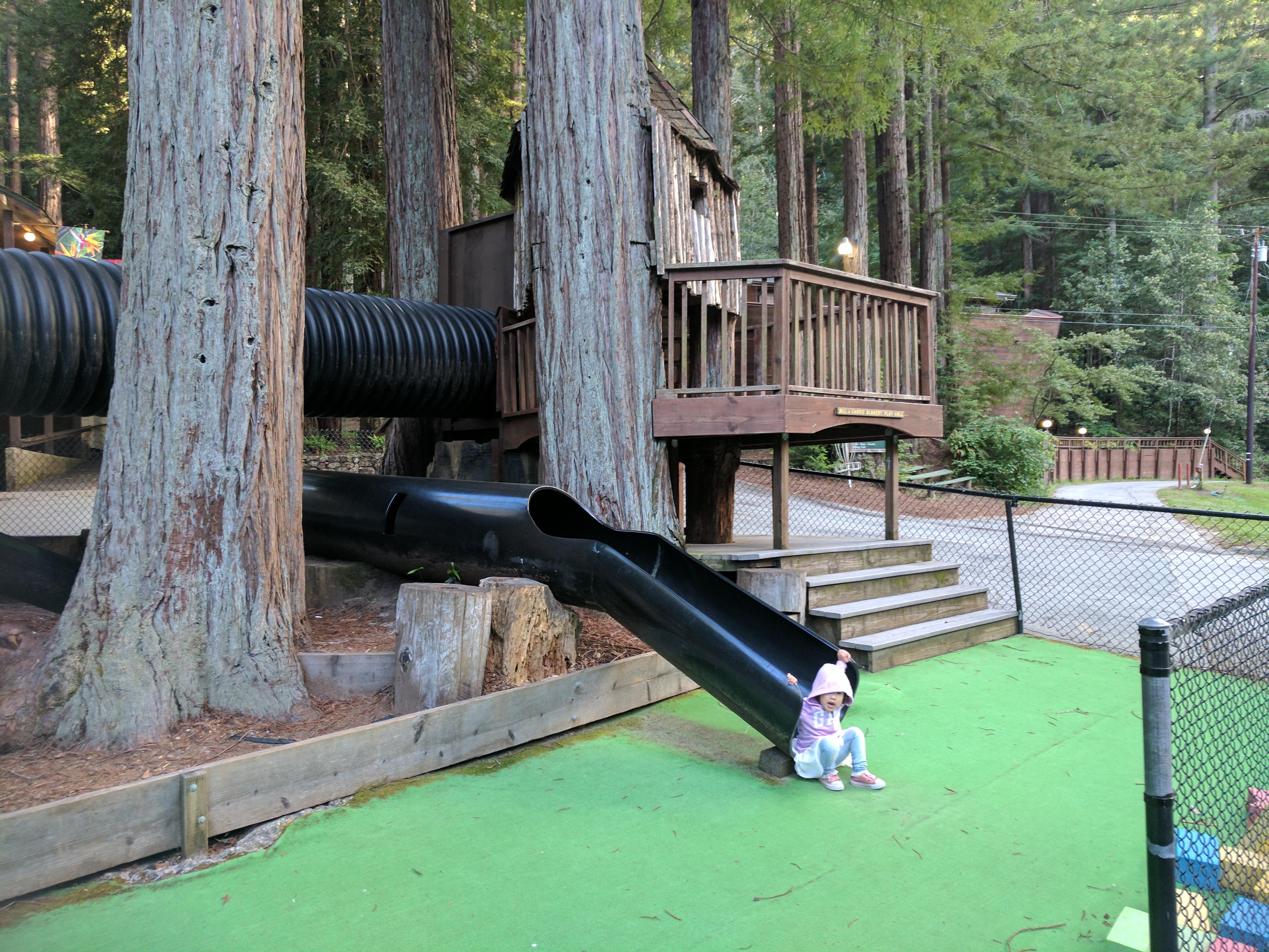 나무를 응용한 자연 친화적 놀이터
