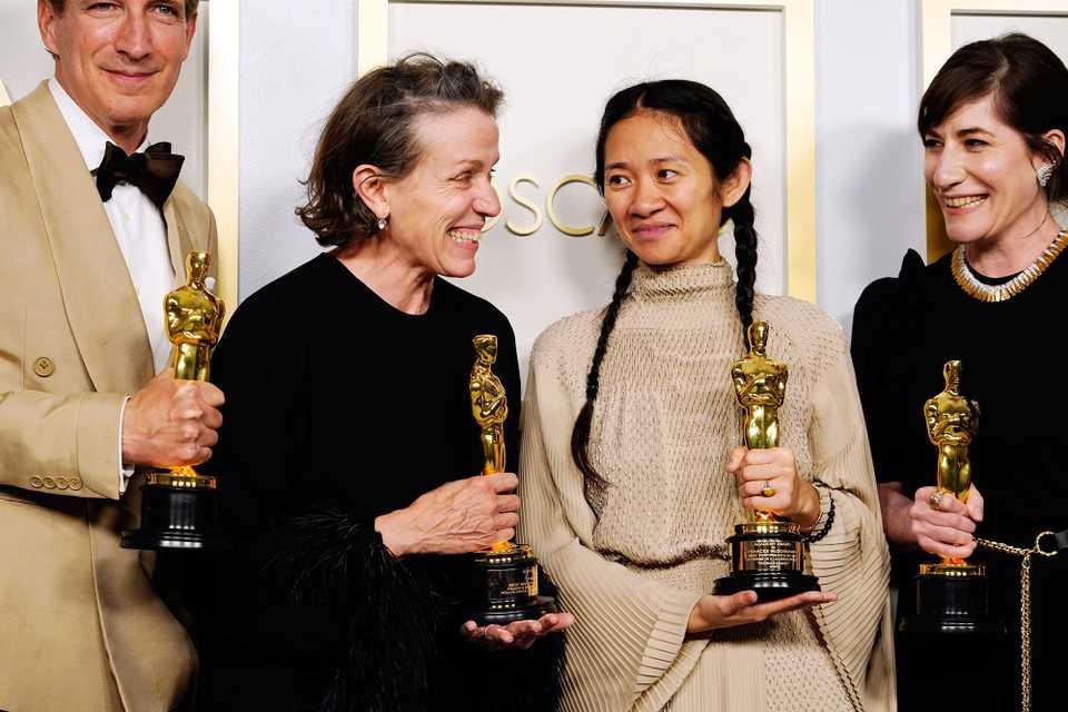 Oscars winners Frances McDormand and Chloé Zhao
