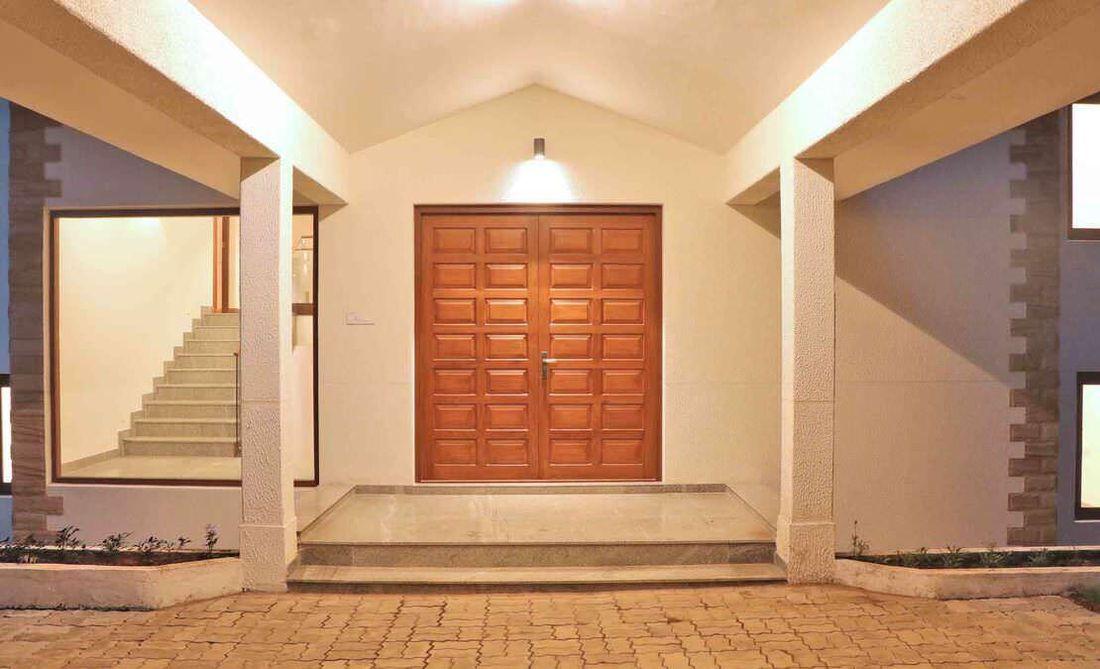 Main door of the bungalow