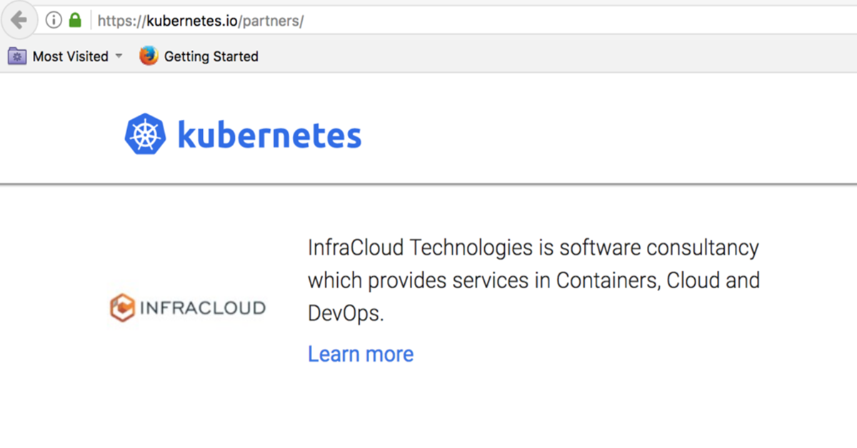 InfraCloud is the 1st Kubernetes Partner in India & only other in APAC