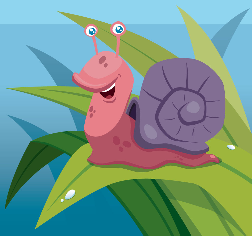 A cartoon snail: A Friend in Need - A story for kids