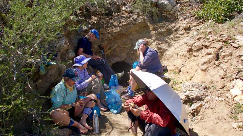 Lunch break at PCT cave