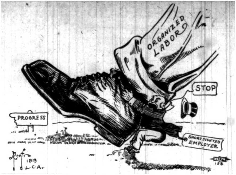 Credit:By Seattle Union Record 11-01-1913 - http://depts.washington.edu/labhist/laborpress/images/SeattleUnionRecord1912-1914/large/11-01-1913%20Cartoon_large.jpeg, Public Domain, https://commons.wikimedia.org/w/index.php?curid=72963636