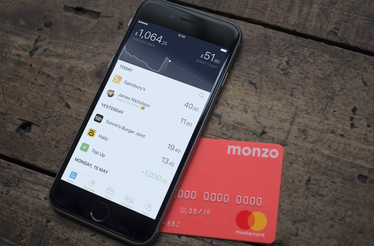 Monzo is the best bank for British nomads - App and Card