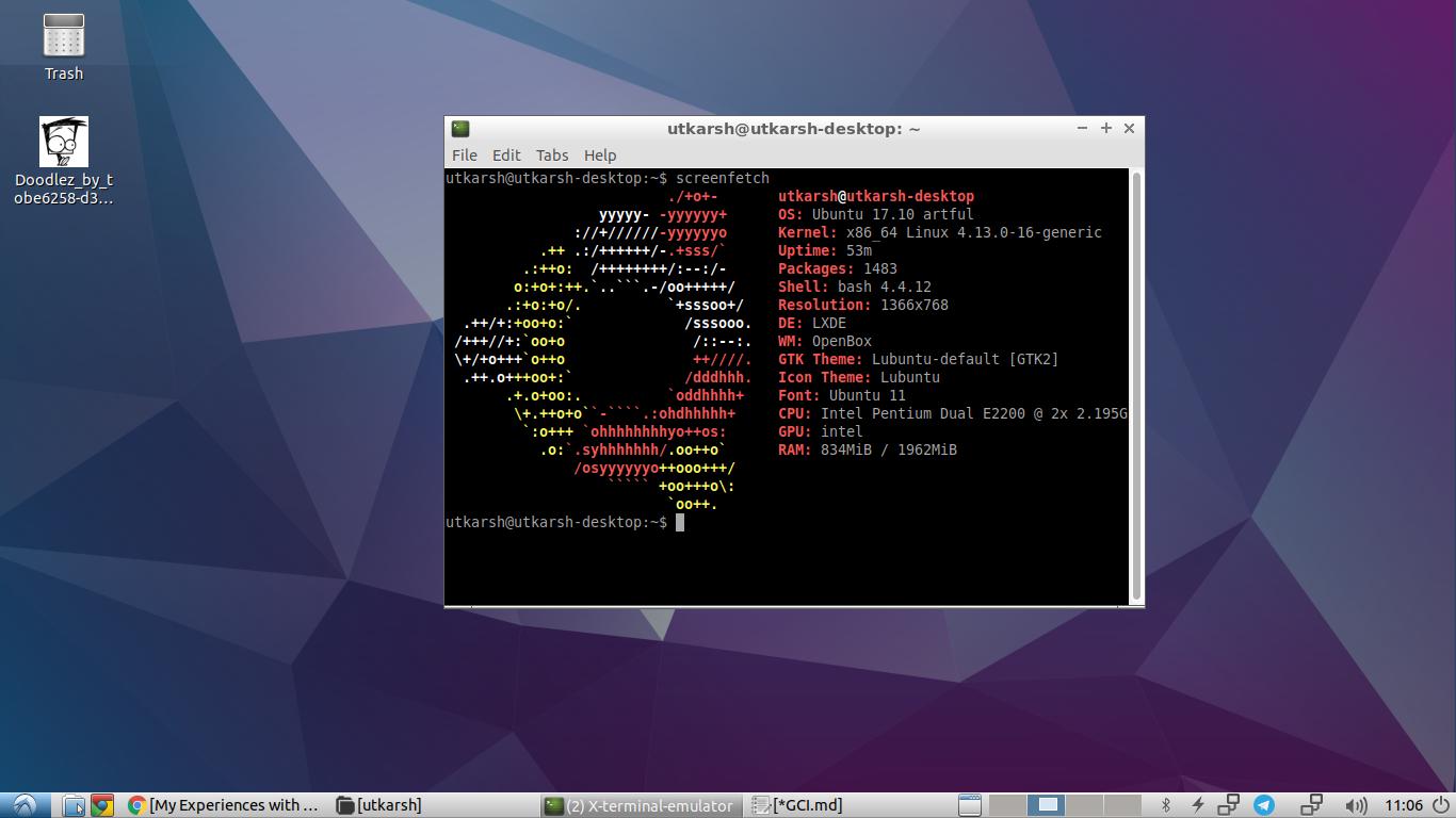 Screenshot of Lubntu