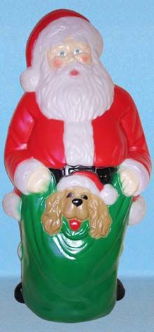 Santa With Puppy photo