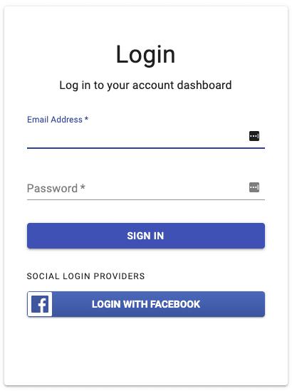 Facebook Auth Login Button
