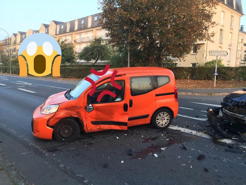 my orange car is broken
