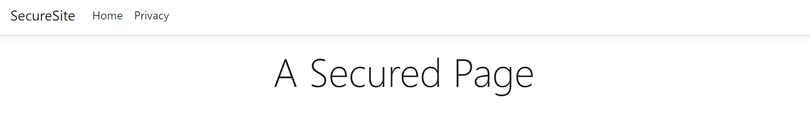 A Secure Page