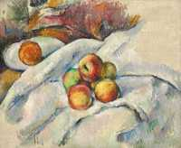 Cezanne's Pommes sur un linge was sold by Christie's New York for $9.125 million in November 2015