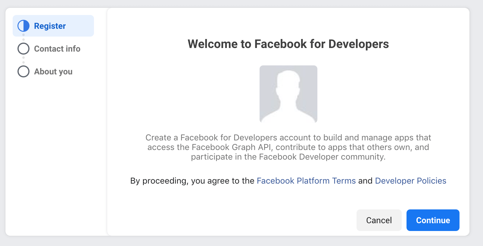 facebook register firebase auth