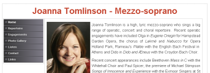 Screenshot of  JoannaTomlinson.org.uk