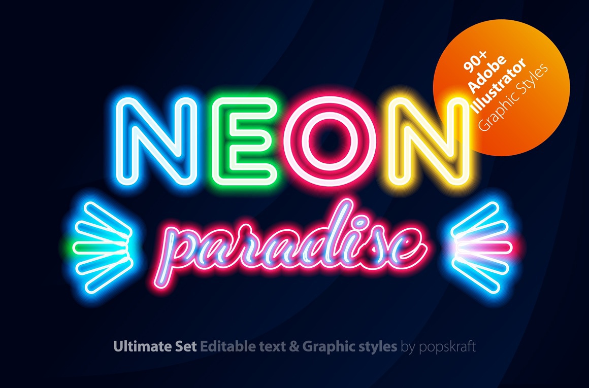 Neon Illustrator styles images/neon_1_AI_styles_cover.jpg