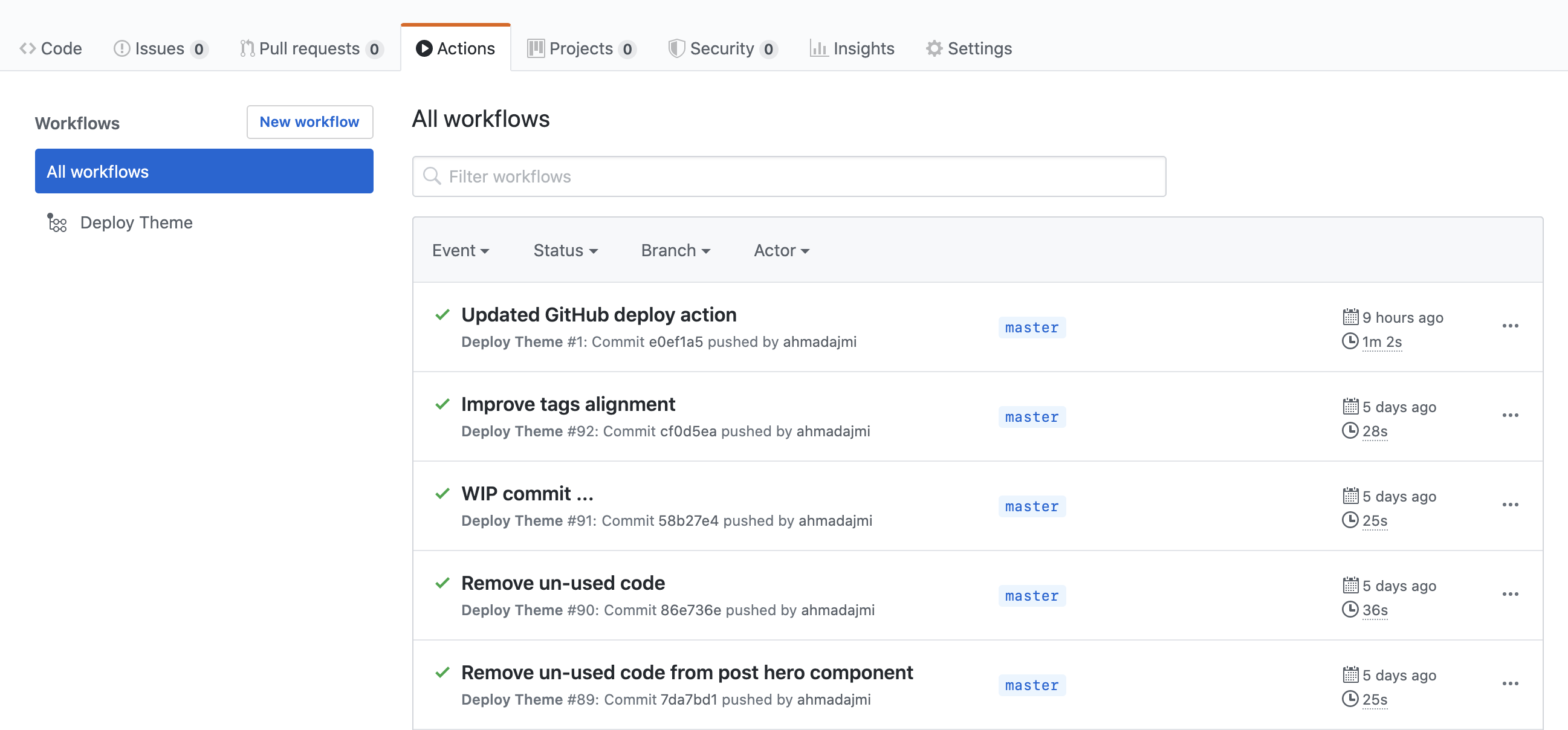 GitHub Repository Deployment Actions