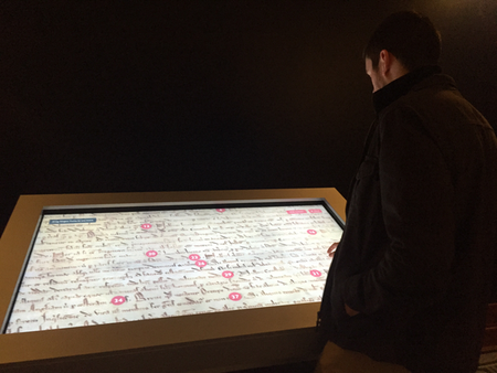 The Magna Carta interactive running in the museum