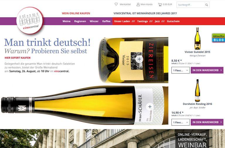 Shopware Shop Referenz: Vinocentral