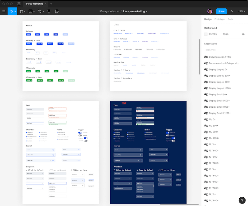 Figma component library