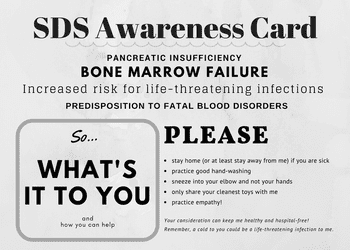 SDS awareness card front