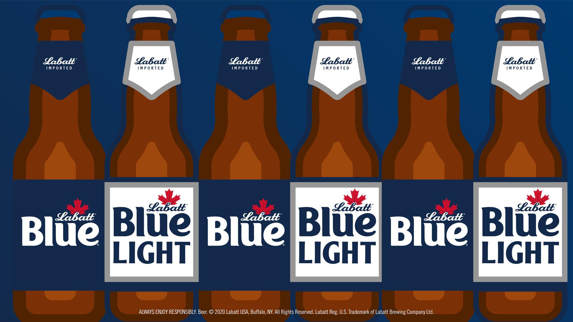 Illustrated Blue and Blue Light Bottle Background