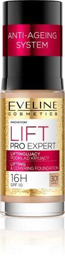 EVELINE LIFT PRO EXPERT lifting hatású fedő alapozó NO.301 homok 30 ml