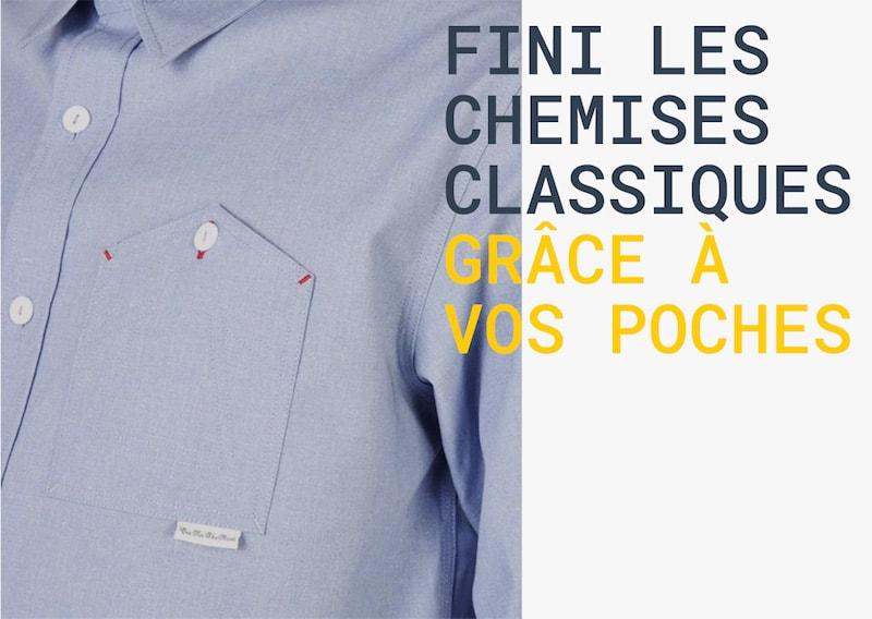 Fini les chemises classiques grâce aux poches
