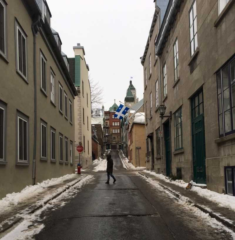 walking around in quebec