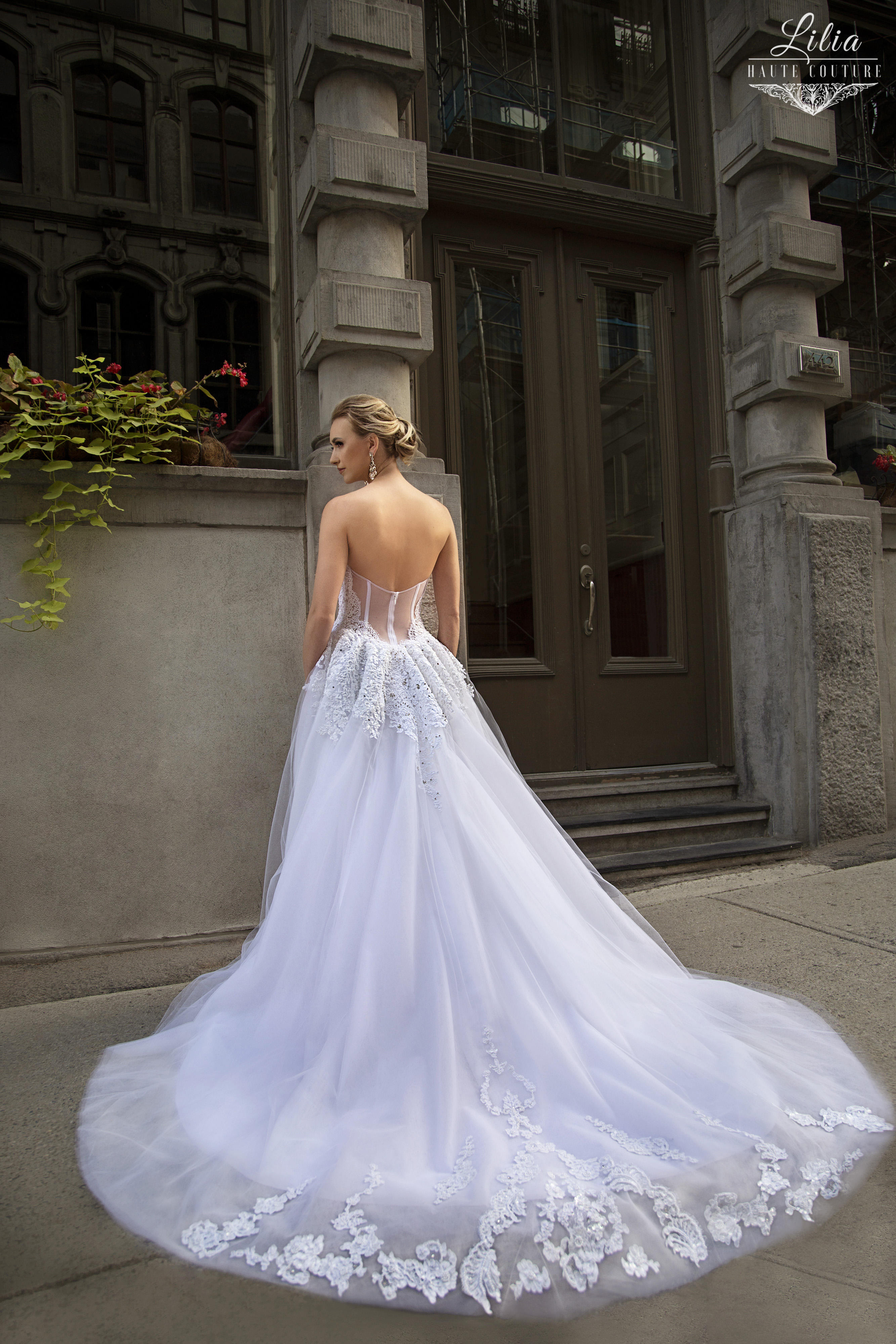 montreal bridal boutique lilia haute couture beaded lace embroidered ball gown