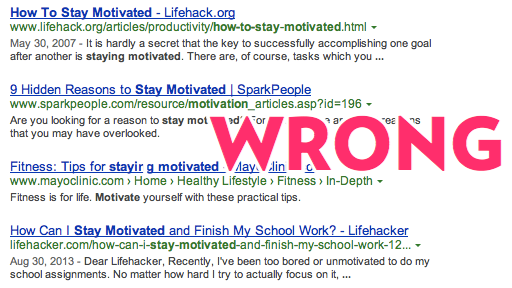 How to stay motivated Google Search