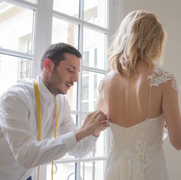 Couturier indépendant robe sur mesure