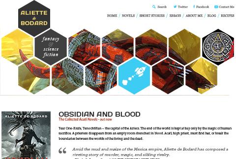 Screenshot of aliettedebodard.com