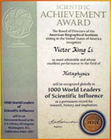 1000 World Leaders of Scientific Influencefrom the American Biographic Institute