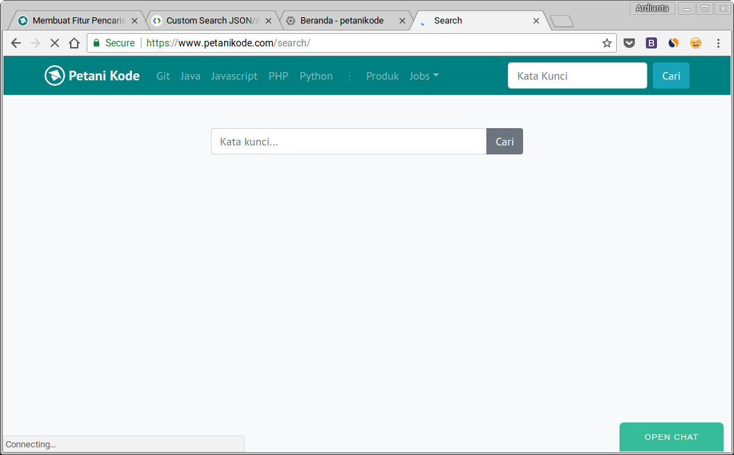Search form with Vuejs