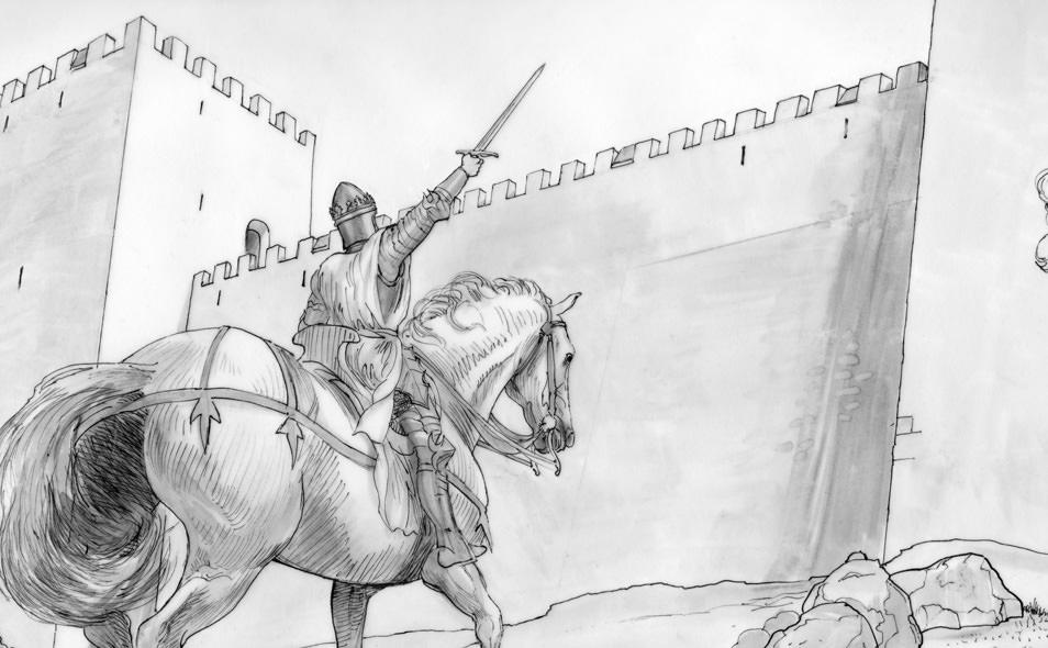 Atoleiros Battle animatic - Juan 1 of Castile in knight armour