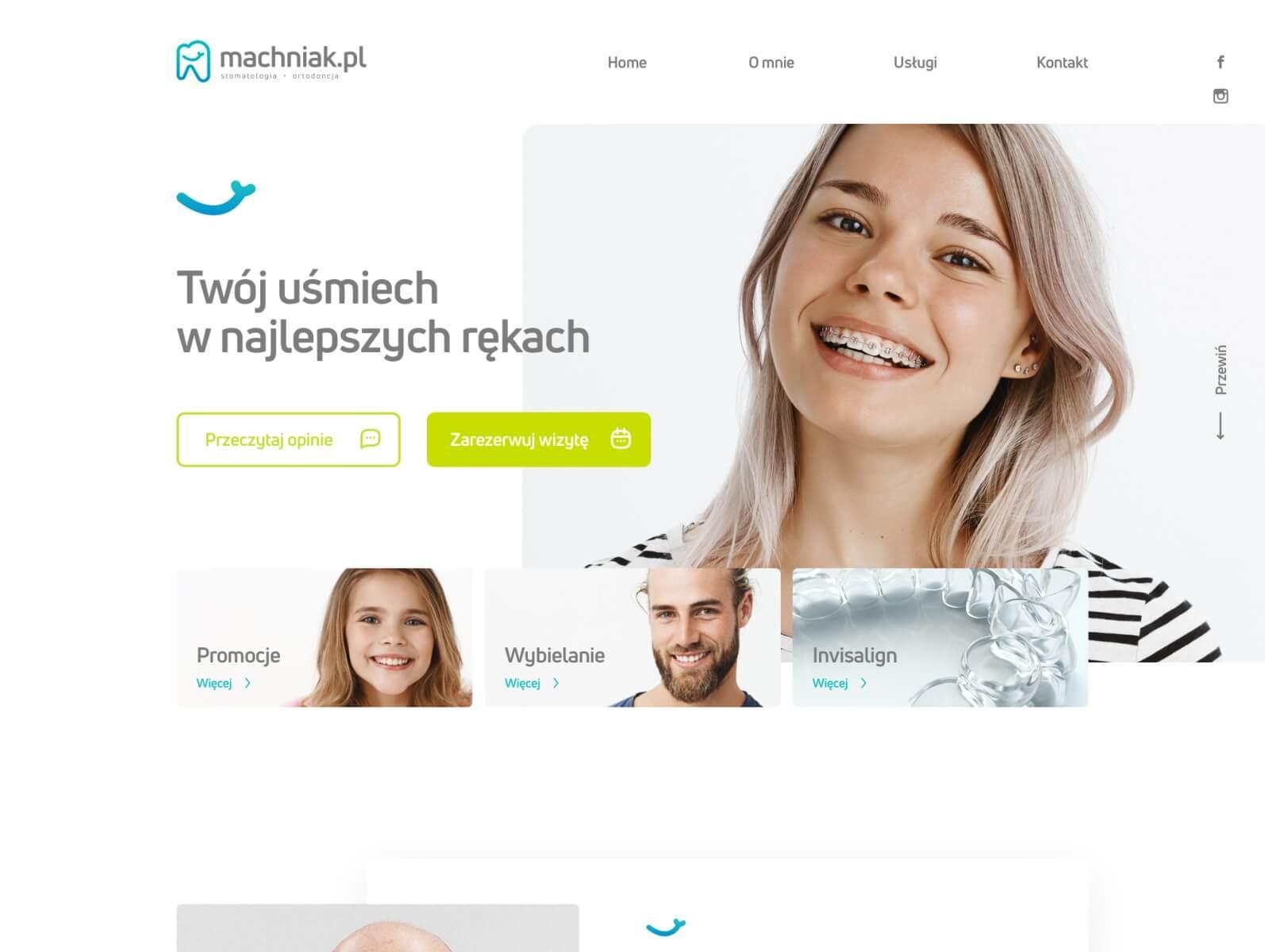 screenshot of website Machniak Clinic