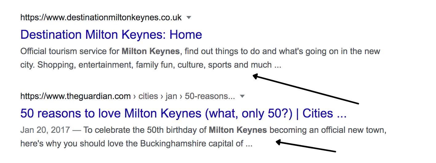 google search meta description example