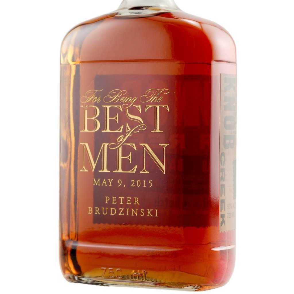 groomsmen liquor label