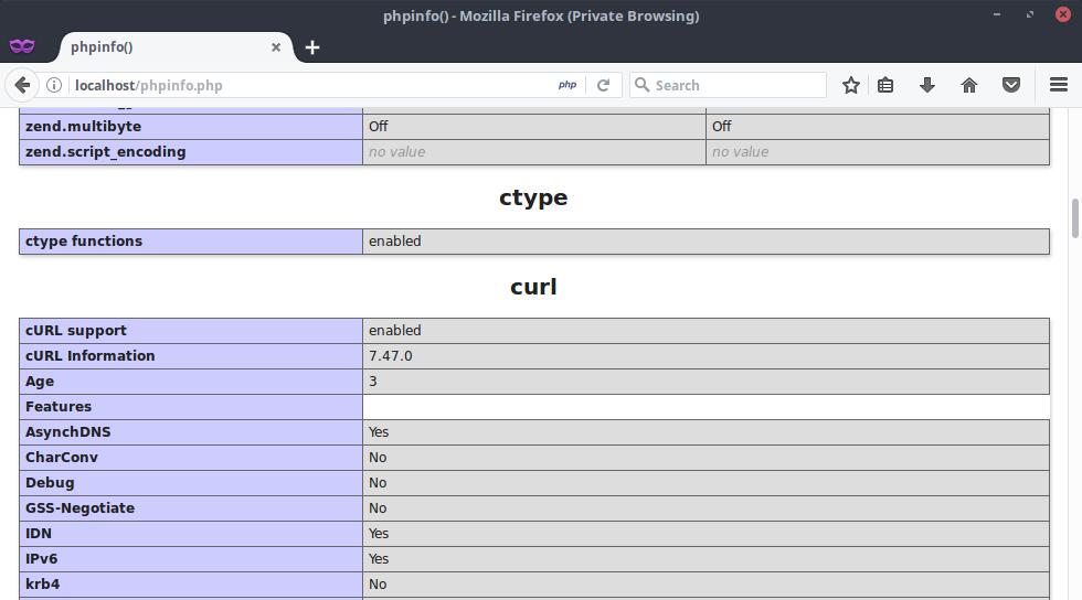 Cek Curl di PHP